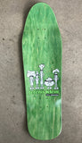 SIGNED MATTE BLACK jeremy klein silk screened candy bar board 9.75 X 31.75 wheelbase 14.5