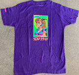 mark gonzales dream girl t-shirt - PURPLE