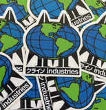 globe logo screened sticker 2.5 X 3