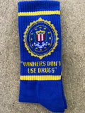 drugs socks - ROYAL BLUE