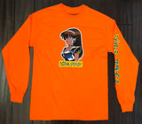 deluxe dream girl LONG SLEEVE t-shirt SAFETY ORANGE