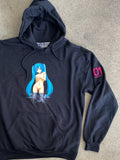 hatsune hooded sweatshirt - BLACK