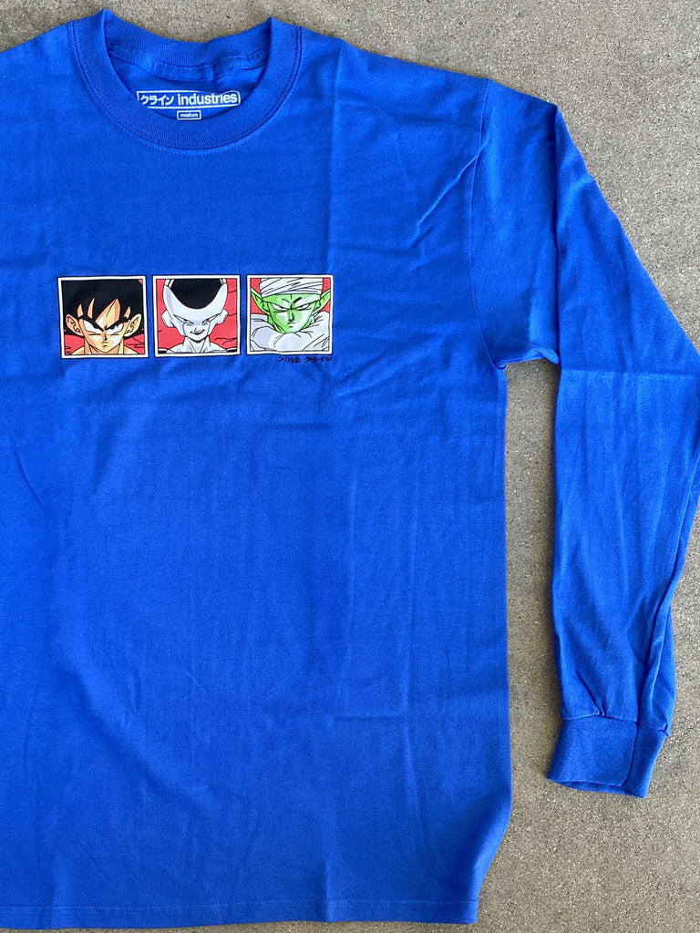 dbz LONG SLEEVE t-shirt ROYAL BLUE