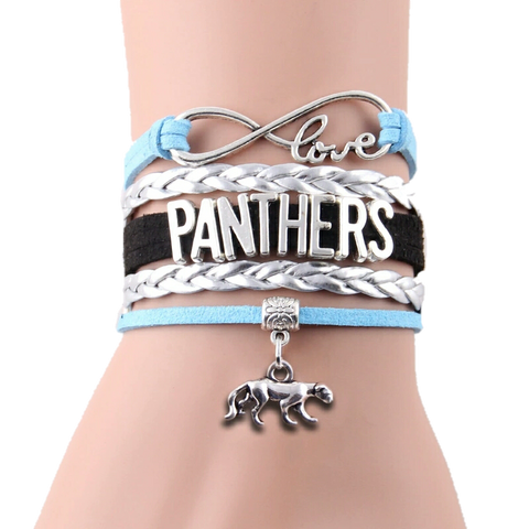 Panthers Bracelet - Peachy Keen Boutique