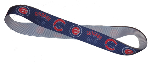 Cubs Ribbon Headband - Peachy Keen Boutique