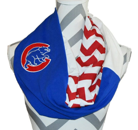 Cubs Infinity Scarf - Peachy Keen Boutique