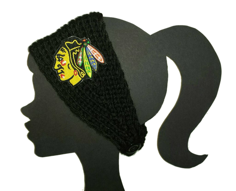 Blackhawks Knit Headband - Peachy Keen Boutique