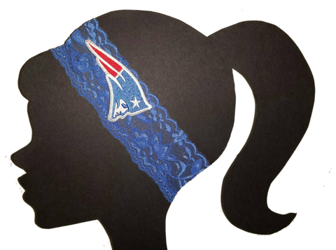 Patriots Lace Headband - Peachy Keen Boutique