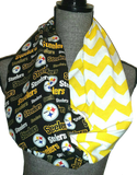 Steelers Glitter Scarf - Peachy Keen Boutique