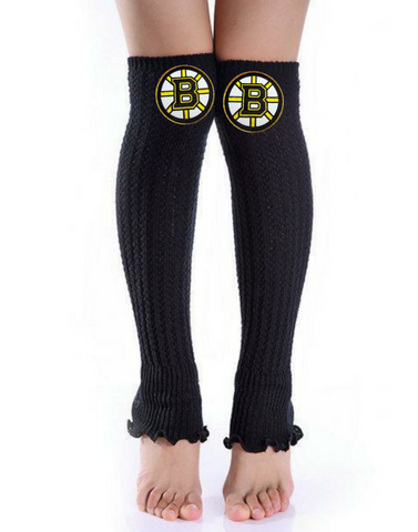 Bruins Leg Warmers - Peachy Keen Boutique