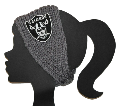Raiders Knit Headband - Peachy Keen Boutique
