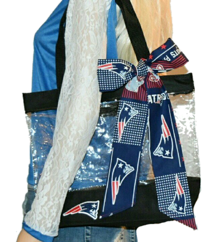 Patriots Clear Tote - Peachy Keen Boutique