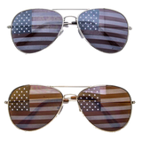 American Flag Aviator Sunglasses - Peachy Keen Boutique