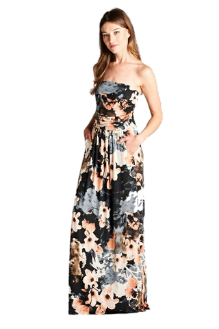 Floral Maxi - Peachy Keen Boutique