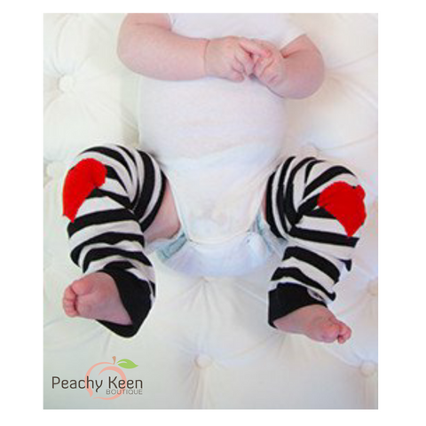 Red heart Baby Leg Warmers heart leggings - Peachy Keen Boutique