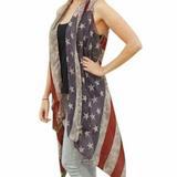 Vintage Flag Vest - Peachy Keen Boutique
