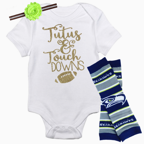 Seattle Seahawks Baby Outfit - Peachy Keen Boutique