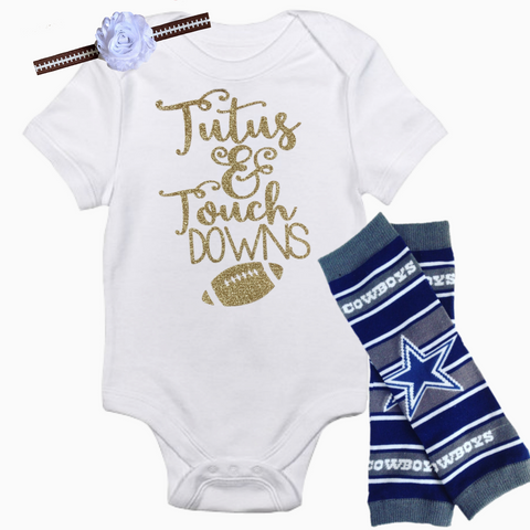 Dallas Cowboys Baby Outfit - Peachy Keen Boutique