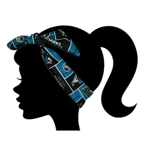 San Jose Sharks Headband - Peachy Keen Boutique