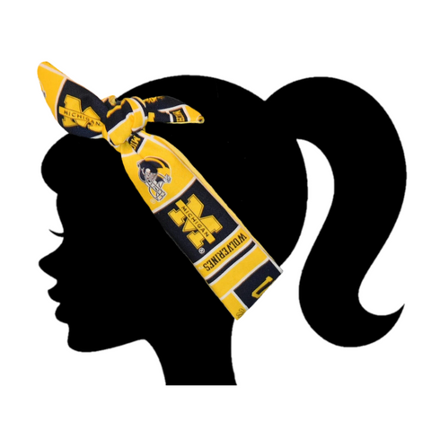 Michigan Wolverines Headband - Peachy Keen Boutique
