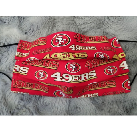 49ers Face Mask - Peachy Keen Boutique