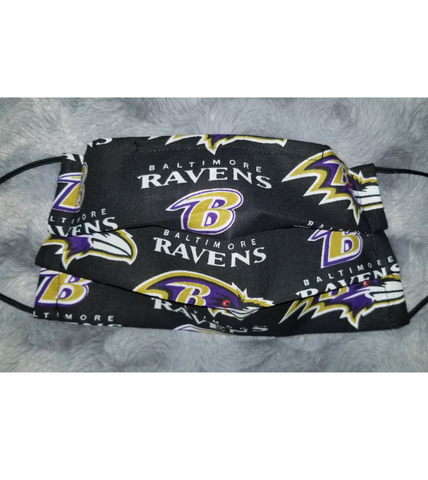 Ravens Face Mask - Peachy Keen Boutique