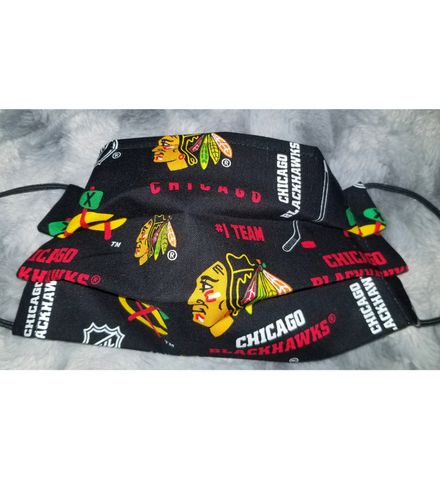 Blackhawks Face Mask