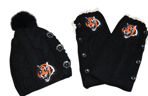 Bengals Leg Warmers and or Beanie - Peachy Keen Boutique