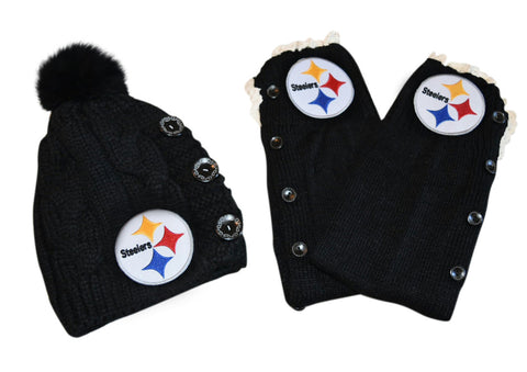 Steelers Leg Warmers and or Beanie