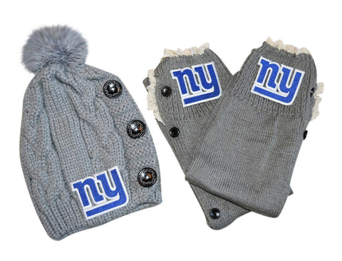 NY Giants Leg Warmers /Beanie - Peachy Keen Boutique