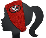 49ers Knit Headband - Peachy Keen Boutique