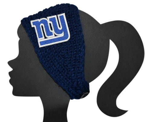 NY Giants Knit Headband - Peachy Keen Boutique
