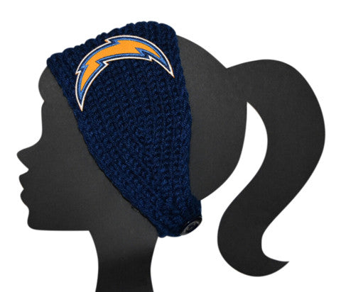Chargers Knit Headband - Peachy Keen Boutique