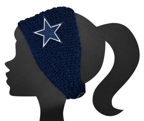 Cowboys Knit Headband - Peachy Keen Boutique