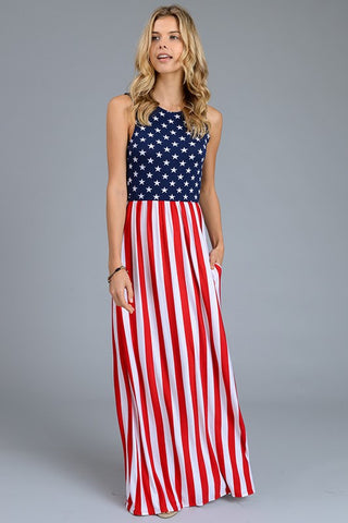 American Flag Maxi - Peachy Keen Boutique