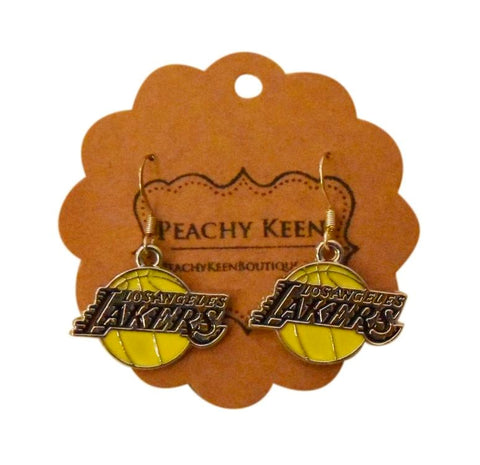Lakers Earrings - Peachy Keen Boutique