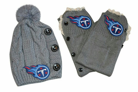 Titans Leg Warmers /Beanie - Peachy Keen Boutique