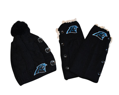 Panthers Beanie and or Leg Warmers - Peachy Keen Boutique