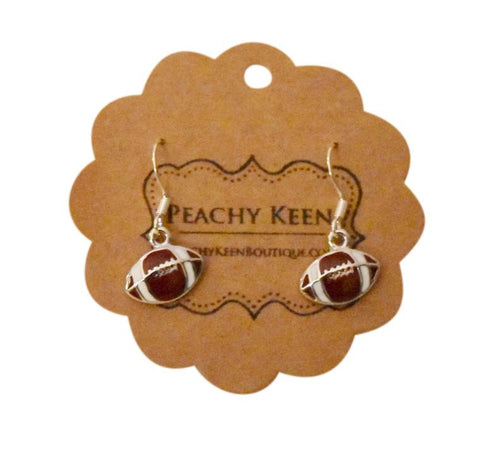 Football Earrings - Peachy Keen Boutique