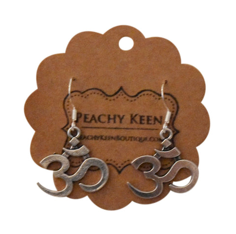Aum Symbol Earrings - Peachy Keen Boutique