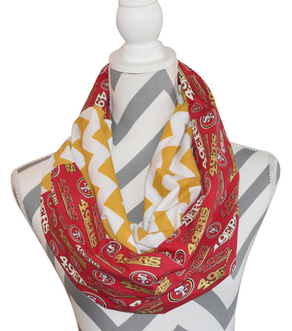 49ers Glitter Scarf - Peachy Keen Boutique
