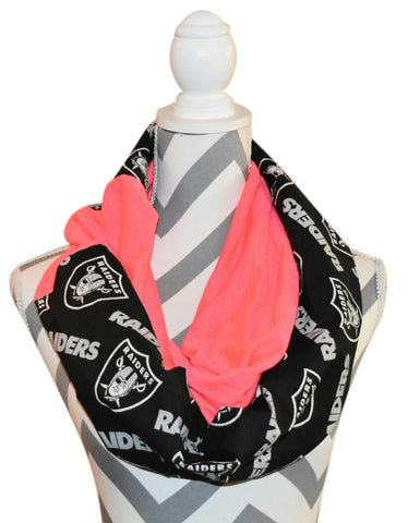 Raiders Pink Scarf - Peachy Keen Boutique