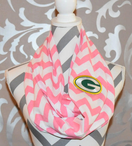 Packers Pink Scarf - Peachy Keen Boutique