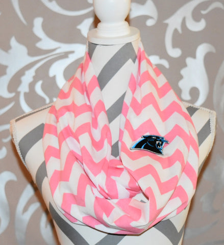 Panthers Pink Scarf - Peachy Keen Boutique