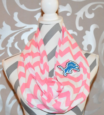 Lions Pink Scarf - Peachy Keen Boutique