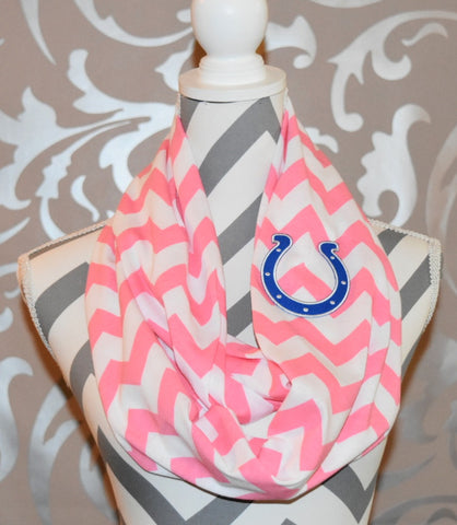 Colts Pink Scarf - Peachy Keen Boutique