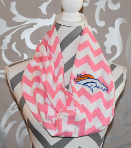Broncos Pink Scarf - Peachy Keen Boutique