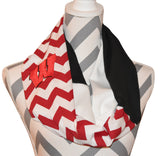 Wisconsin Badgers Infinity Scarf - Peachy Keen Boutique