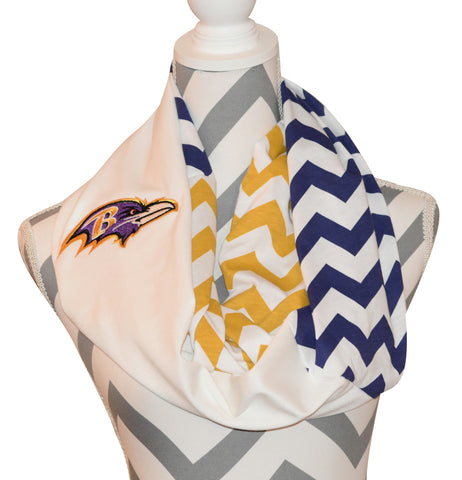 Ravens Infinity Scarf - Peachy Keen Boutique