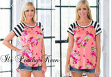 Floral Tee - Peachy Keen Boutique